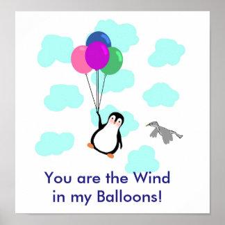 """Poster """"Vous êtes le vent AFFICHE dans mes ballons"""""""