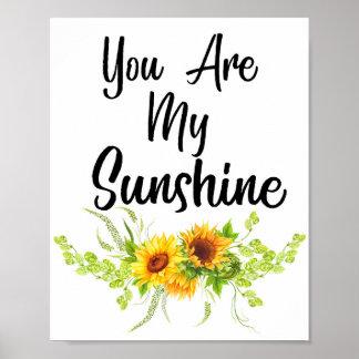 Poster Vous êtes mon soleil