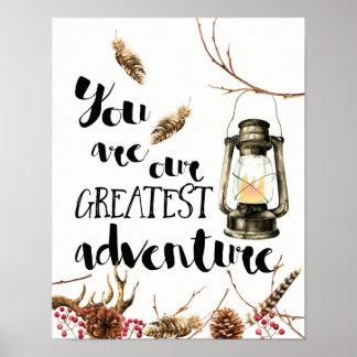 Poster Vous êtes notre plus grande aventure