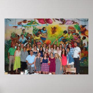 Poster Voyage 2017 d'immersion du Nicaragua