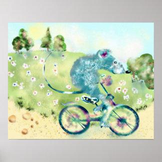 Poster Voyage de bicyclette