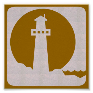 Poster Voyage graphique de voile de plage de mer de PHARE