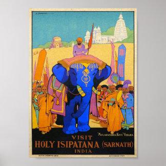 Poster Voyage saint vintage d'Isipatana Inde Dorothy