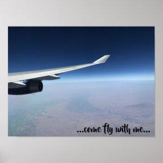 Poster Vraie photo de l'aile plate - mouche venue avec