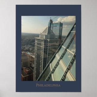 Poster Vue aérienne de Philadelphie