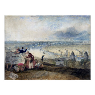 Poster Vue de Joseph Mallord William Turner de Londres