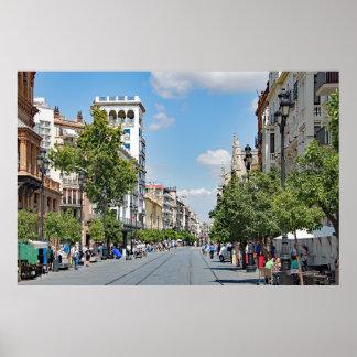Poster Vue du centre de Séville