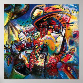 Poster Wassily Kandinsky - art abstrait de paysage urbain