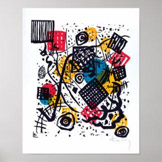 Poster Wassily Kandinsky - petit art abstrait des mondes