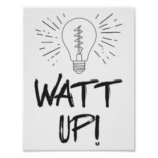 Poster Watt ! Humour de la Science