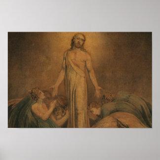Poster William Blake - Christ apparaissant aux apôtres