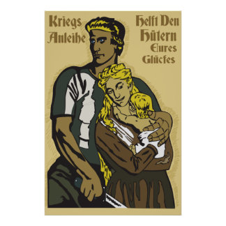 Poster WW1 affiche allemande Kriegsanleihe, repaire