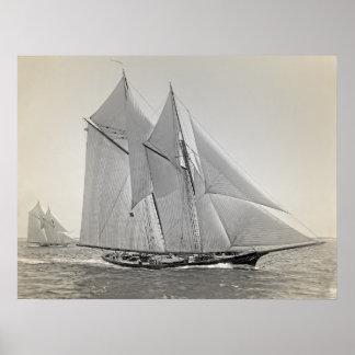 Poster Yacht Fortuna de schooner