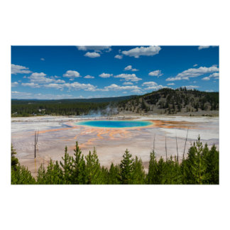 Poster Yellowstone - affiche prismatique grande de