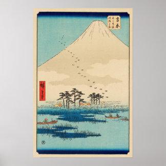 Poster Yoshiwara, Japon : Copie vintage de bois de