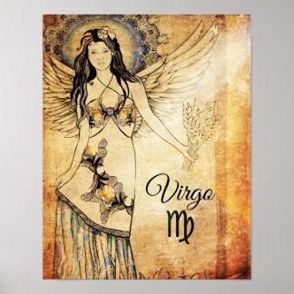 Poster Zodiaque de Vierge