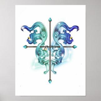 Poster Zodiaque d'horoscope de Capricorne inspiré par art