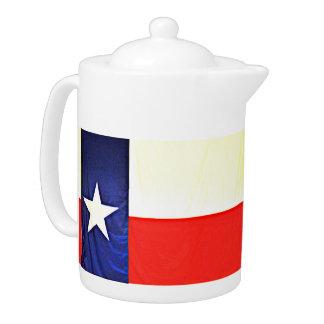 Pot de thé de drapeau du Texas