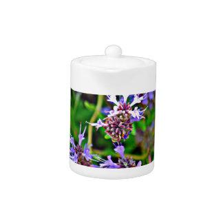 Pot de thé de fleur de lavande
