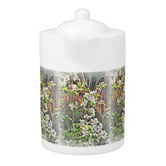 Pot de thé de fleurs de pommier