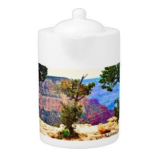 Pot de thé de paysage de canyon grand