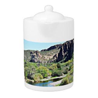Pot de thé de Saguaro de lac