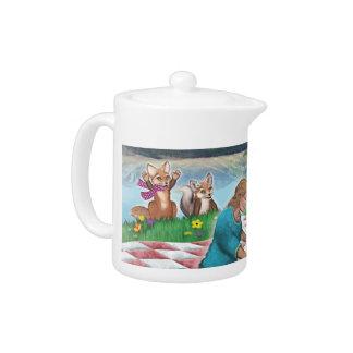 Pot de thé de thé et de jeux