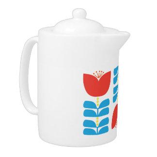 Pot de thé de tulipe