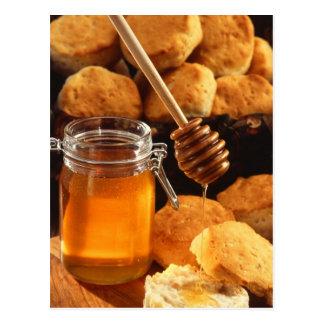 Pot délicieux de miel cartes postales