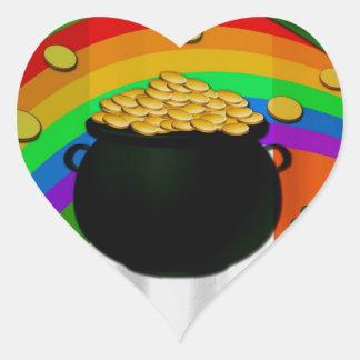 Pot d'or sticker cœur