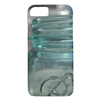 Pot en verre bleu coque iPhone 8/7