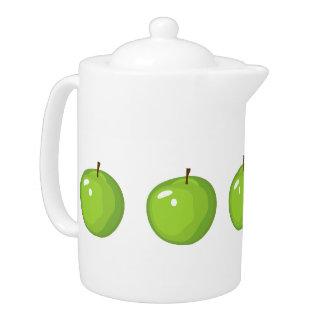 Pot moyen de thé de pommes vertes