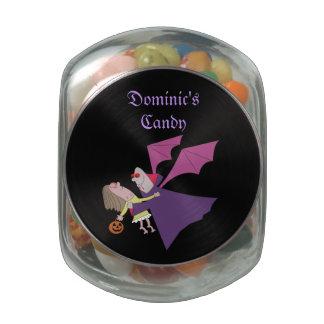 Pots en verre de sucrerie personnalisés par vampir