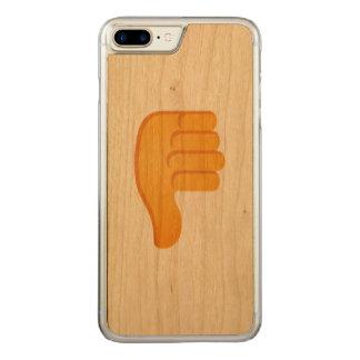 Pouces vers le bas Emoji Coque En Bois iPhone 7 Plus