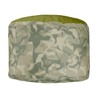 Pouf Camouflage militaire de Camo de région boisée