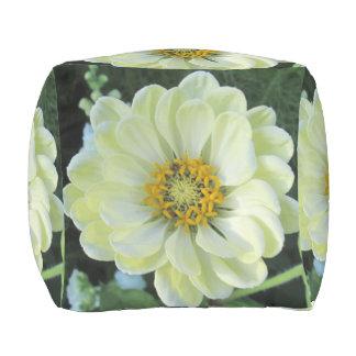 Pouf D'extérieur Fleur jaune-clair de dahlia