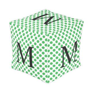 Pouf D'extérieur Monogramme simple avec le pois vert