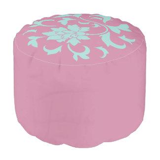 Pouf Fleur orientale - motif circulaire de Shell de
