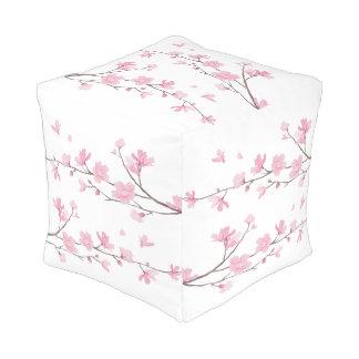 Pouf Fleurs de cerisier - arrière - plan transparent