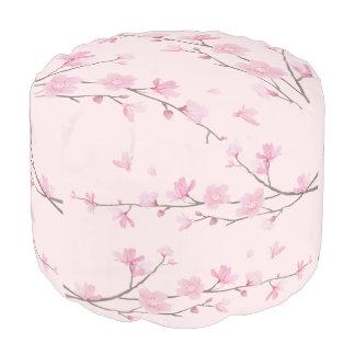Pouf Fleurs de cerisier - rose