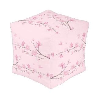 Pouf Fleurs de cerisier - transparentes