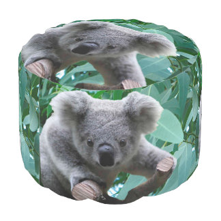Pouf Koala et eucalyptus