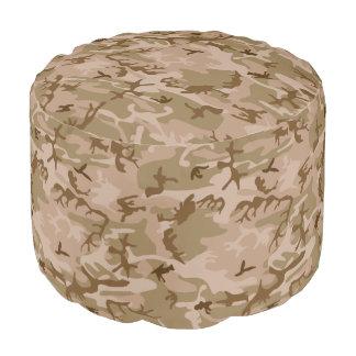 Pouf Motif de Camo d'armée de camouflage de désert
