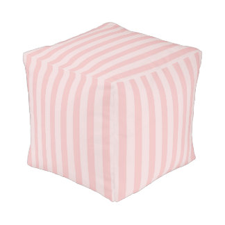Pouf Pâlissez - la crèche rayée rose de bébé