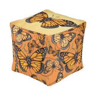 Pouf Papillon de monarque