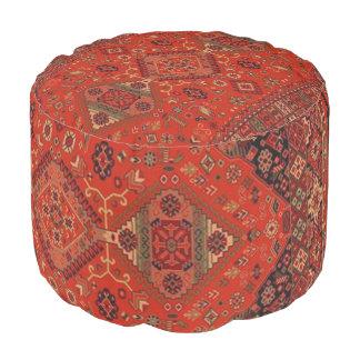 Pouf persan oriental vintage de couverture