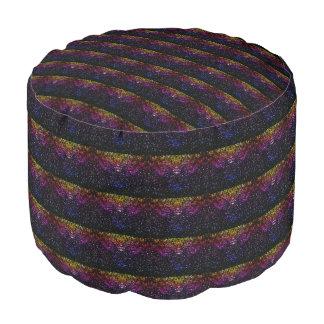 Pouf rayé de scintillement pourpre violet