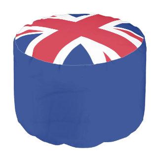 Pouf rond de coton tissé par Union Jack