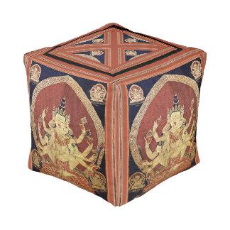 Pouf Tibétain Thangka de Guhyasamaja Akshobhyavajra