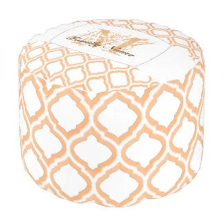 Pouf Treillis marocain de Duo-Ton (orange)